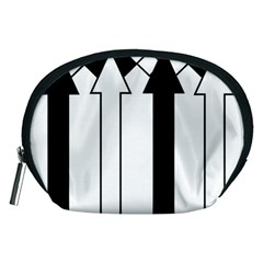 Funny Black and White Stripes Diamonds Arrows Accessory Pouches (Medium)