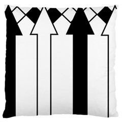 Funny Black and White Stripes Diamonds Arrows Large Flano Cushion Case (Two Sides)