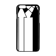 Funny Black and White Stripes Diamonds Arrows Apple iPhone 6/6S Black Enamel Case