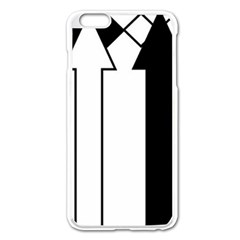 Funny Black And White Stripes Diamonds Arrows Apple Iphone 6 Plus/6s Plus Enamel White Case by yoursparklingshop