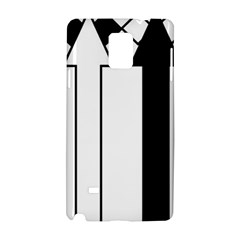 Funny Black and White Stripes Diamonds Arrows Samsung Galaxy Note 4 Hardshell Case