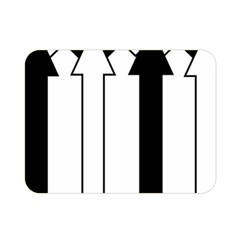 Funny Black and White Stripes Diamonds Arrows Double Sided Flano Blanket (Mini)