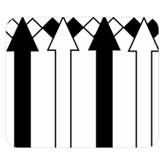 Funny Black and White Stripes Diamonds Arrows Double Sided Flano Blanket (Small)