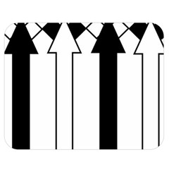 Funny Black And White Stripes Diamonds Arrows Double Sided Flano Blanket (medium)  by yoursparklingshop