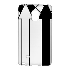Funny Black and White Stripes Diamonds Arrows Galaxy Note Edge