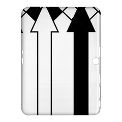 Funny Black And White Stripes Diamonds Arrows Samsung Galaxy Tab 4 (10 1 ) Hardshell Case  by yoursparklingshop