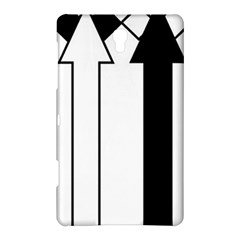 Funny Black and White Stripes Diamonds Arrows Samsung Galaxy Tab S (8.4 ) Hardshell Case