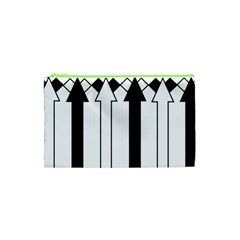 Funny Black and White Stripes Diamonds Arrows Cosmetic Bag (XS)