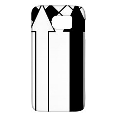 Funny Black and White Stripes Diamonds Arrows Galaxy S6