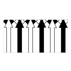 Funny Black and White Stripes Diamonds Arrows Satin Shawl