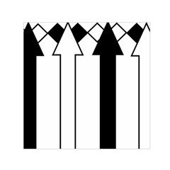 Funny Black and White Stripes Diamonds Arrows Small Satin Scarf (Square)