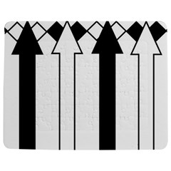 Funny Black and White Stripes Diamonds Arrows Jigsaw Puzzle Photo Stand (Rectangular)