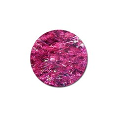 Festive Hot Pink Glitter Merry Christmas Tree  Golf Ball Marker (10 Pack) by yoursparklingshop