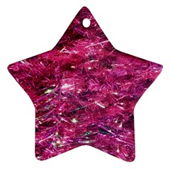 Festive Hot Pink Glitter Merry Christmas Tree  Star Ornament (two Sides)  by yoursparklingshop