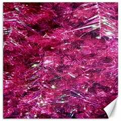 Festive Hot Pink Glitter Merry Christmas Tree  Canvas 16  X 16   by yoursparklingshop
