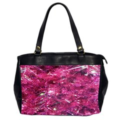 Festive Hot Pink Glitter Merry Christmas Tree  Office Handbags (2 Sides)  by yoursparklingshop