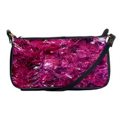 Festive Hot Pink Glitter Merry Christmas Tree  Shoulder Clutch Bags by yoursparklingshop