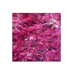 Festive Hot Pink Glitter Merry Christmas Tree  Satin Bandana Scarf by yoursparklingshop