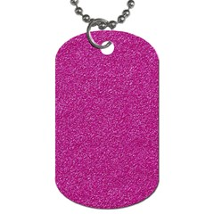 Metallic Pink Glitter Texture Dog Tag (one Side) by yoursparklingshop