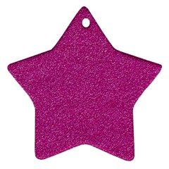 Metallic Pink Glitter Texture Star Ornament (two Sides)  by yoursparklingshop
