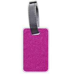 Metallic Pink Glitter Texture Luggage Tags (two Sides) by yoursparklingshop