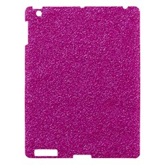 Metallic Pink Glitter Texture Apple Ipad 3/4 Hardshell Case by yoursparklingshop