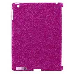 Metallic Pink Glitter Texture Apple Ipad 3/4 Hardshell Case (compatible With Smart Cover)