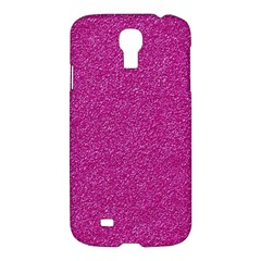 Metallic Pink Glitter Texture Samsung Galaxy S4 I9500/i9505 Hardshell Case by yoursparklingshop