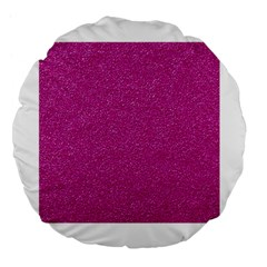 Metallic Pink Glitter Texture Large 18  Premium Flano Round Cushions by yoursparklingshop