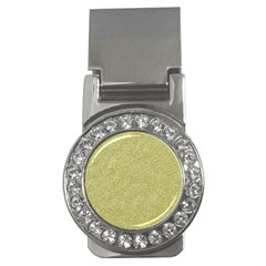 Festive White Gold Glitter Texture Money Clips (cz)  by yoursparklingshop