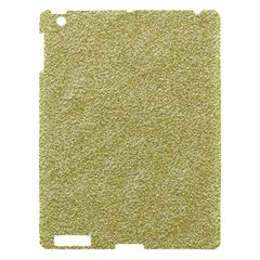 Festive White Gold Glitter Texture Apple Ipad 3/4 Hardshell Case by yoursparklingshop