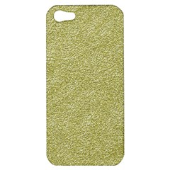 Festive White Gold Glitter Texture Apple Iphone 5 Hardshell Case by yoursparklingshop