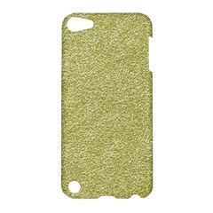 Festive White Gold Glitter Texture Apple Ipod Touch 5 Hardshell Case by yoursparklingshop