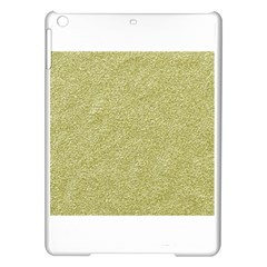 Festive White Gold Glitter Texture Ipad Air Hardshell Cases by yoursparklingshop