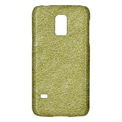 Festive White Gold Glitter Texture Galaxy S5 Mini by yoursparklingshop