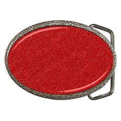 Festive Red Glitter Texture Belt Buckles by yoursparklingshop