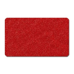 Festive Red Glitter Texture Magnet (rectangular) by yoursparklingshop