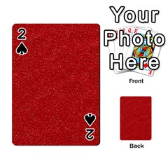 Festive Red Glitter Texture Playing Cards 54 Designs  by yoursparklingshop