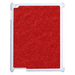 Festive Red Glitter Texture Apple Ipad 2 Case (white)