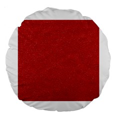 Festive Red Glitter Texture Large 18  Premium Round Cushions by yoursparklingshop
