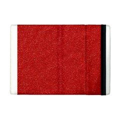 Festive Red Glitter Texture Ipad Mini 2 Flip Cases by yoursparklingshop