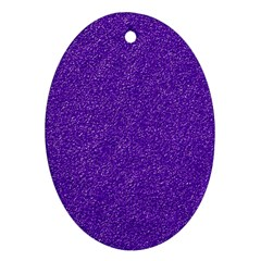 Festive Purple Glitter Texture Ornament (oval)  by yoursparklingshop