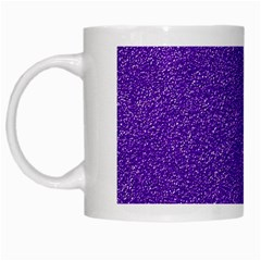 Festive Purple Glitter Texture White Mugs by yoursparklingshop