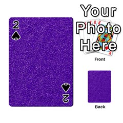 Festive Purple Glitter Texture Playing Cards 54 Designs  by yoursparklingshop