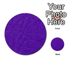 Festive Purple Glitter Texture Multi Purpose Cards (round)  by yoursparklingshop