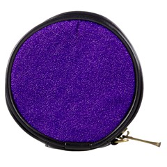 Festive Purple Glitter Texture Mini Makeup Bags by yoursparklingshop