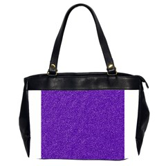Festive Purple Glitter Texture Office Handbags (2 Sides)  by yoursparklingshop