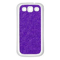 Festive Purple Glitter Texture Samsung Galaxy S3 Back Case (white) by yoursparklingshop
