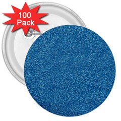 Festive Blue Glitter Texture 3  Buttons (100 Pack)  by yoursparklingshop