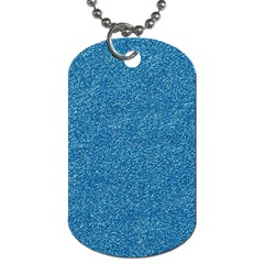 Festive Blue Glitter Texture Dog Tag (two Sides)
